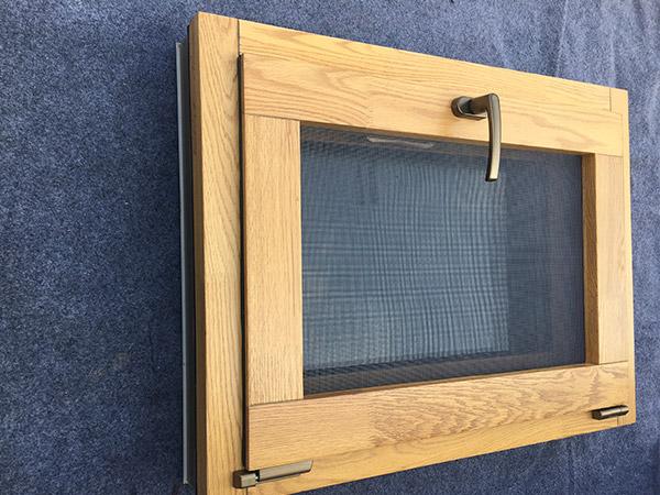 外开窗铝包木钢砂一体窗110