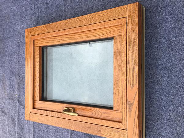 铝包木外开窗80